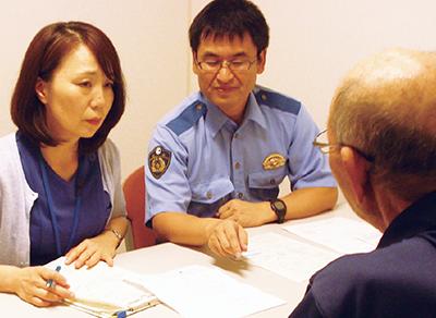運転適性相談では、看護師が同席して状況や症状を確認しアドバイスします