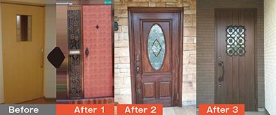 入居部屋のドアに、住んでいた家のドアと同じデザインのステッカーを貼れます(写真はイメージ)